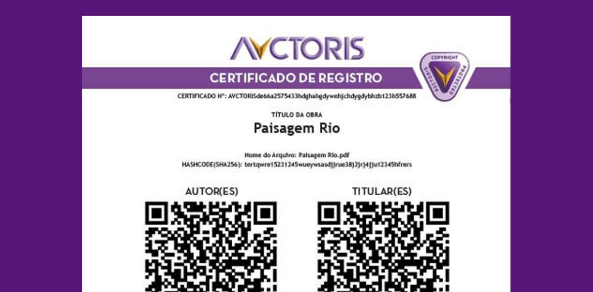 Avctoris Certificado de registro - Avctoris funciona?