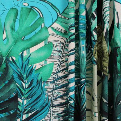 tissu d exterieur imprime vegetal