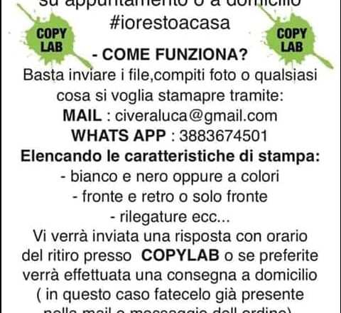 Copy Lab – Consegna a domicilio