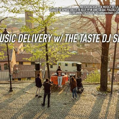 *MUSIC DELIVERY  #RESTATE A CASA. La musica ve la portiamo noi! Sabato 18 aprile ritorna a Chieri il DJSET di THE TASTE