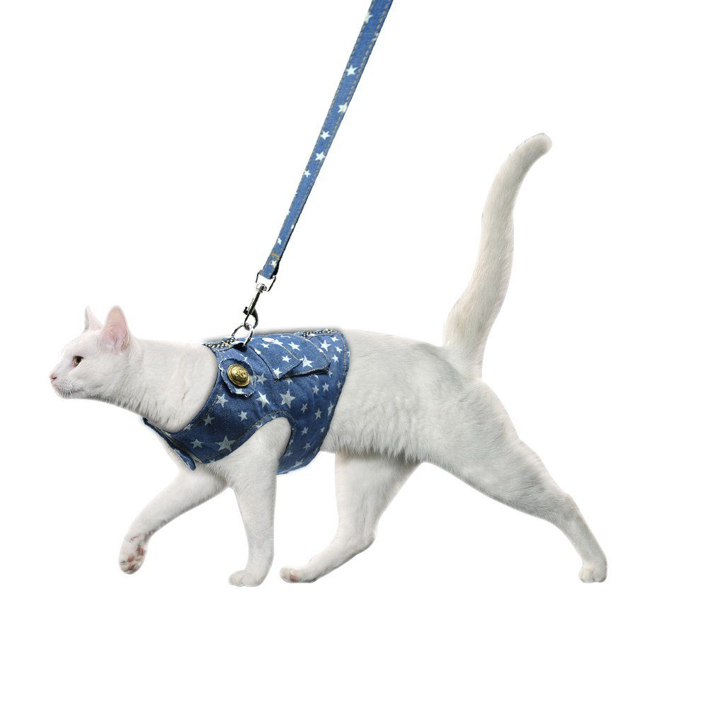 Large Blue Soft Harness Dogs