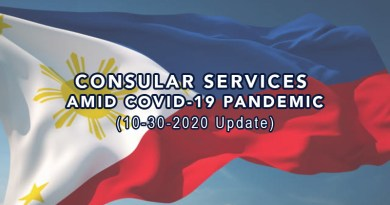 Philippine Consular Services Amid COVID 19 Pandemic (10-30-2020 Update)