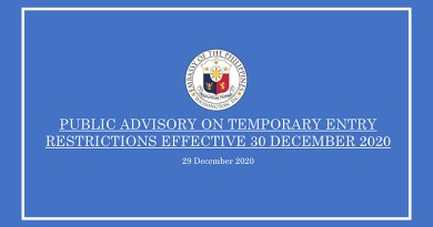 Public Advisory on Temporary Entry Restrictions Effective Dec. 30, 2020