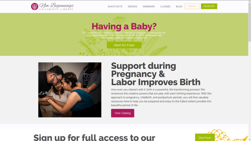 Childbirth Library Soft Launch – May 22, 2018