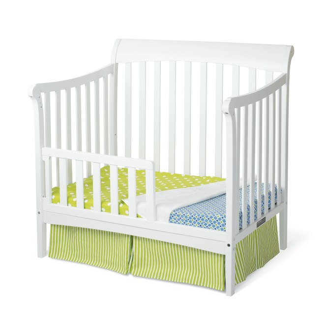 Coventry Mini Convertible Child Craft Crib Toddler Bed Matte White