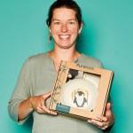 Cynthia Posthuma, Owner von Bixxs (Pure Kids), mit Bambus-Geschirrset