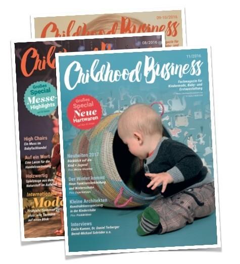 Möchten Sie Childhood Business kennenlernen? Dann nutzen Sie ein Probe-Abo über drei Ausgaben.