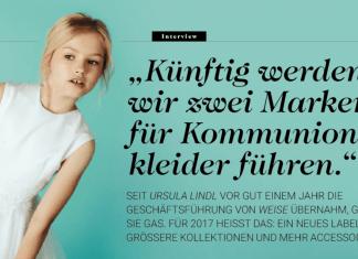 Ursula Linda, Geschäftsführerin von Weise Fashion, im Interview in Childhood Business Ausgabe 01/2017