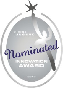 Nominated für den Innovation-Award 2017 der Kind + JugendNominated für den Innovation-Award 2017 der Kind + Jugend