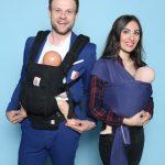 Daniel Jahn und Melanie Walther von ERGObaby Europe GmbH. Im Web unter: www.ergobaby.de – auf der Kind + Jugend 2017 beim Childhood-Business-Shooting 'My Favourite Item'