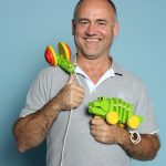 Alain De Rauw von Plan Toys Europe. Im Web unter: www.plantoys.com – auf der Kind + Jugend 2017 beim Childhood-Business-Shooting 'My Favourite Item'