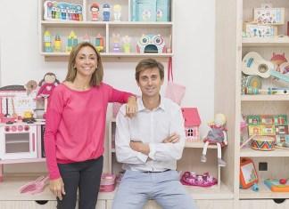 Marta Roget und Erik Mayol - Geschäftsführer der spanischen Spielwarenkette EurekaKids