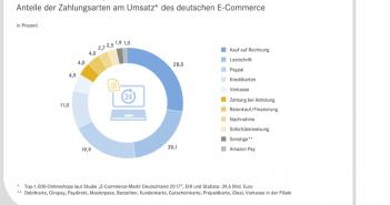 Aufteilung der Zahlarten im E-Commerce in 2017