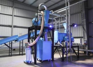 Schuh-Recycling-Anlage von Soex für die typenunabhängige Verwertung von Altschuhen