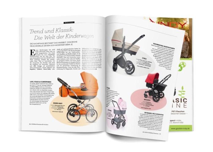 Die Welt der Kinderwagen - neue Modelle zur Kind + Jugend 2018