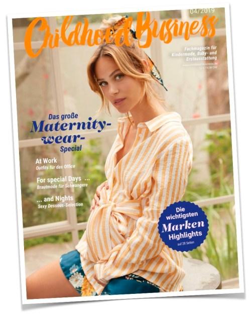 Cover der Ausgabe 04 / 2019 von Childhood Business - Sonderausgabe Maternitywear