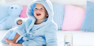 """Die """"Sebamed Baby & Kind Gesichtscreme""""lässt sich leicht auftragen und zieht schnell ein."""