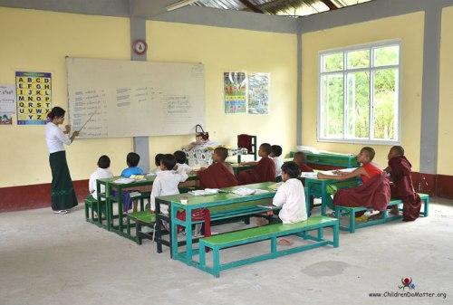 children at school sasana orphanage myanmar - children do matter