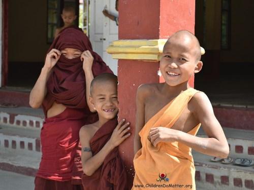 children smiling from sasana orphanage myanmar - children do matter