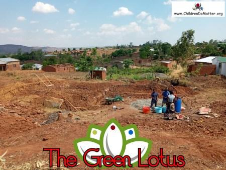 costruzione dell'orfanotrofio casa di accoglienza the green lotus a blantyre malawi - children do matter - 1