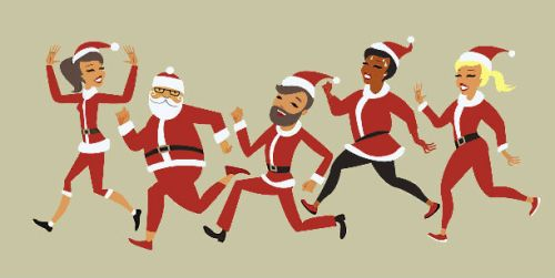 santa claus race - children do matter