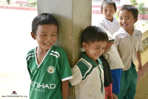 smiling children sasana orphanage myanmar - children do matter