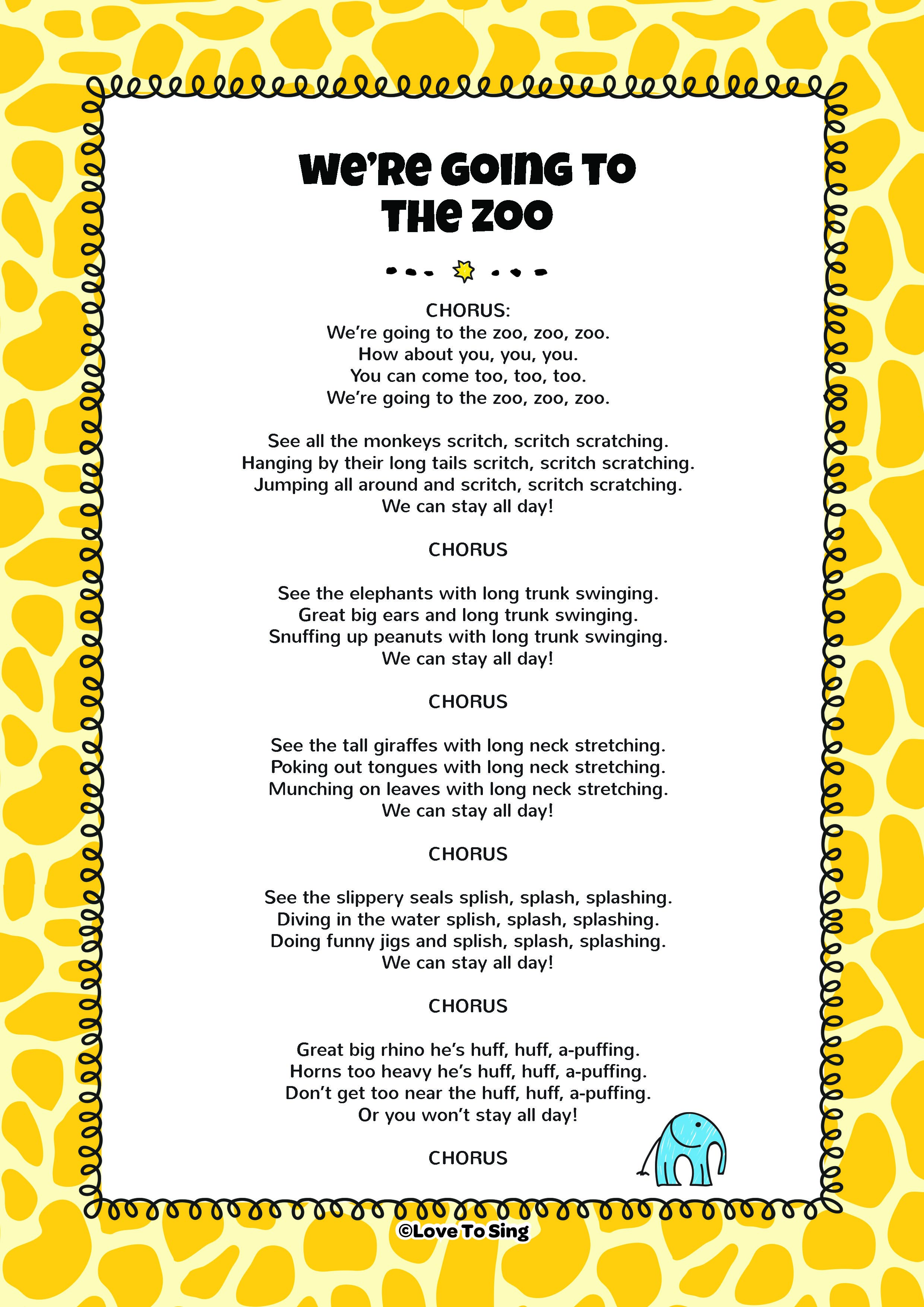 We Re Going To The Zoo