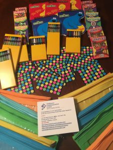 """Goodies"" consist of zipper bags filled with card games, twist-able crayons & pencils, art paper & stickers! Photo: LSG"