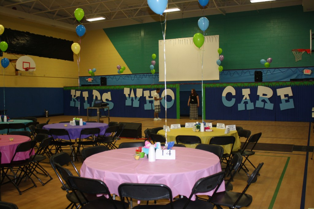 photo of party setting for Kids Who Care