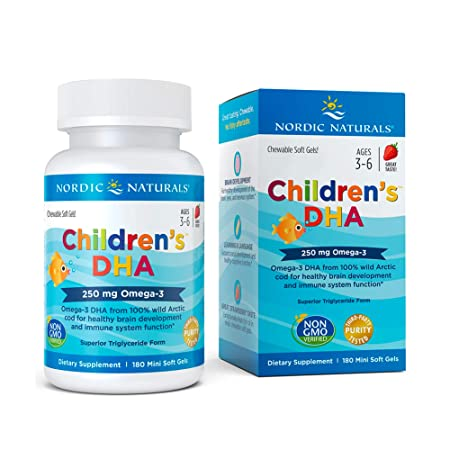 Nordic Naturals Children's DHA, 250mg Strawberry – 180 softgels