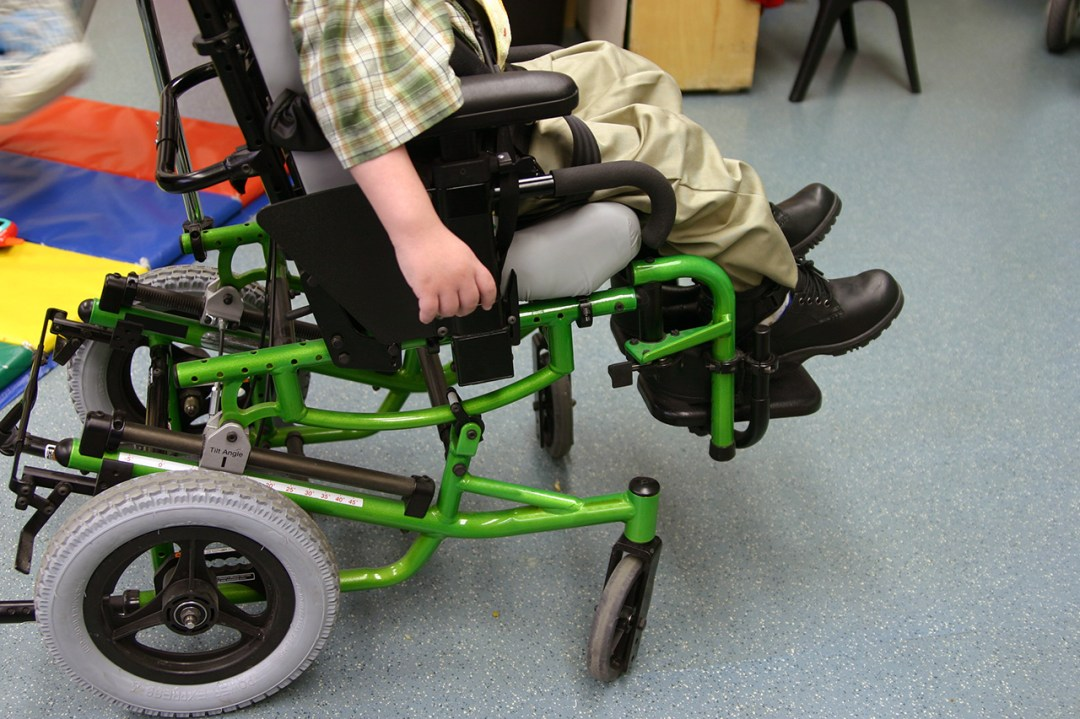 Green adapted wheelchair