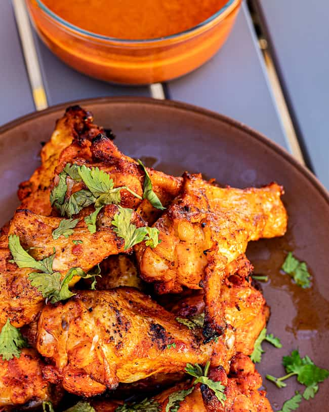 wings with lighter sauce