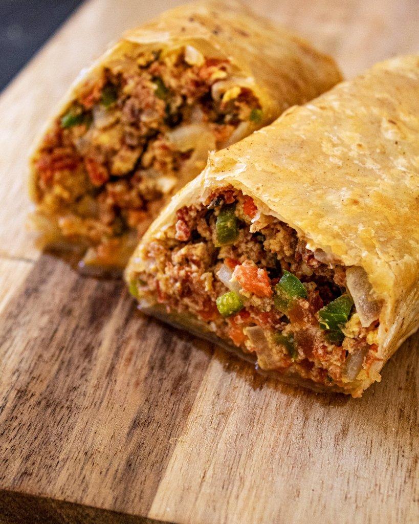 machaca breakfast burrito