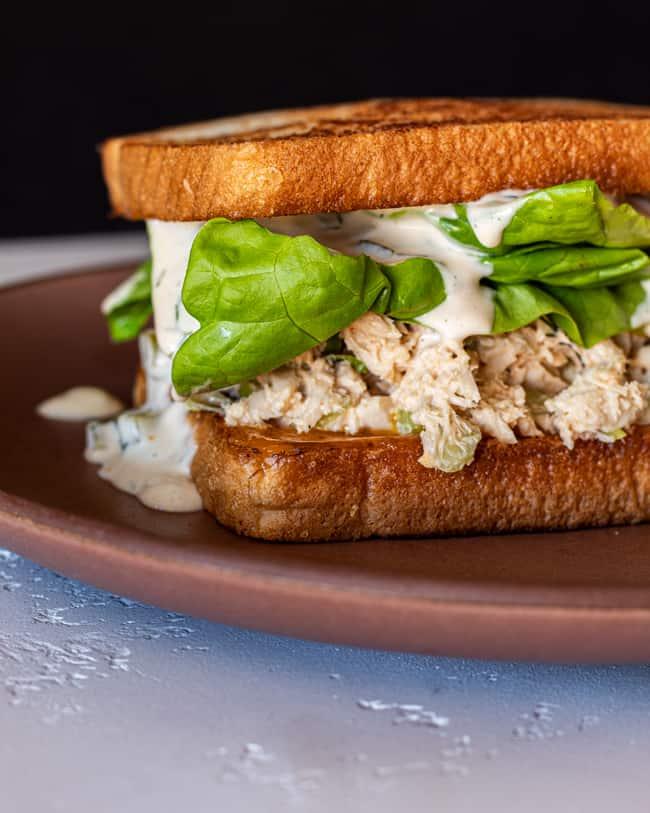 tuna sandwich with remoulade