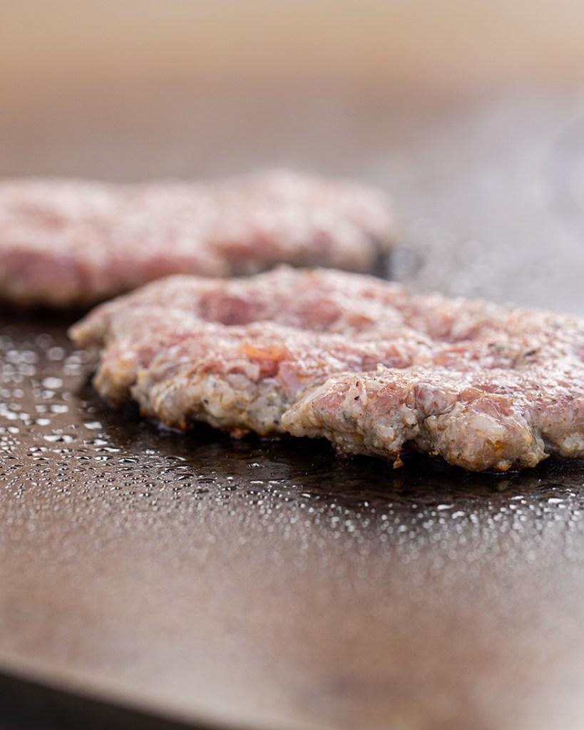 sausage patty with rosemary dijon spices