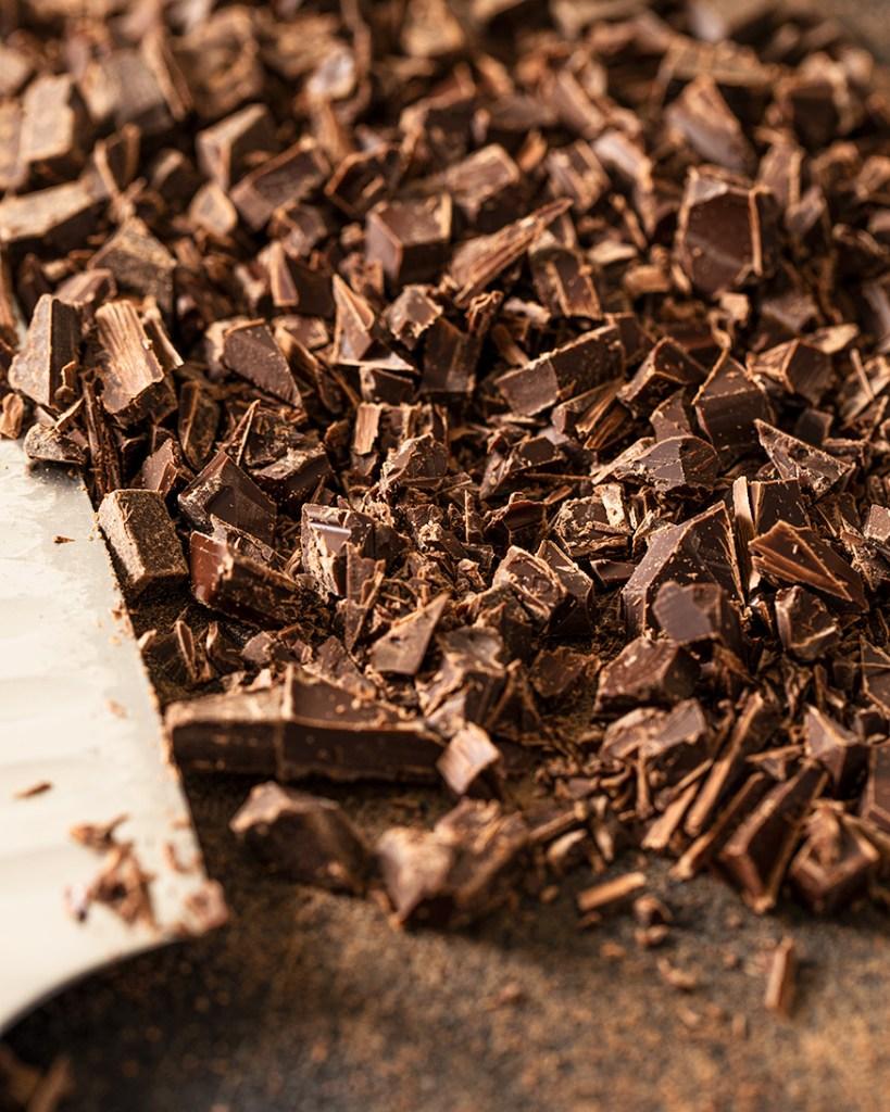 Smoked dark chocolate, chopped