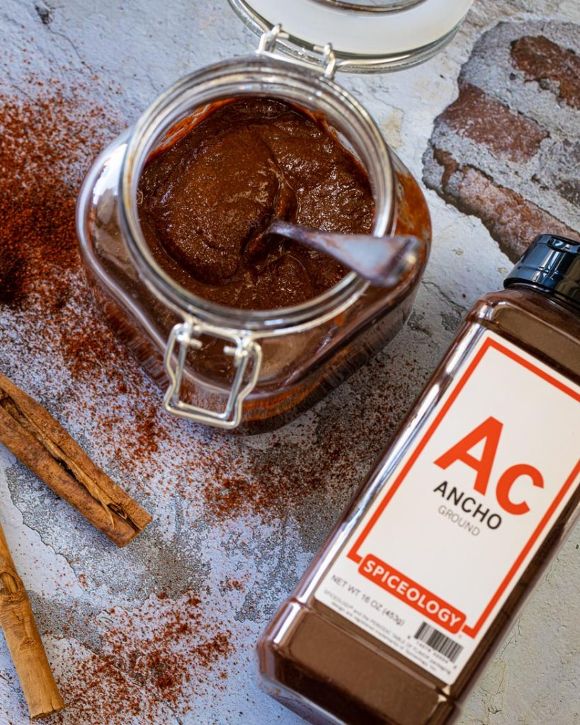 spiceology ancho chile powder is the main ingredient for the adobo sauce