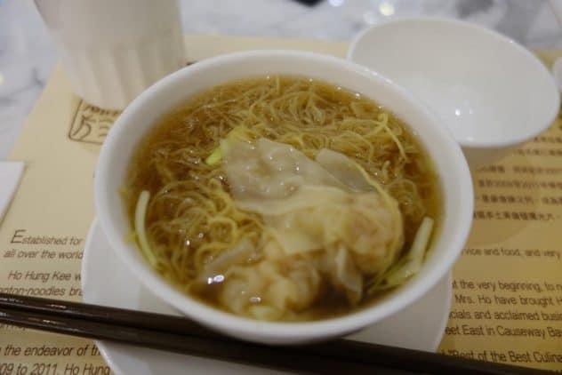 Wonton-Egg Noodle-Soup at Ho Hung Kee, Hysan Place, Hong Kong