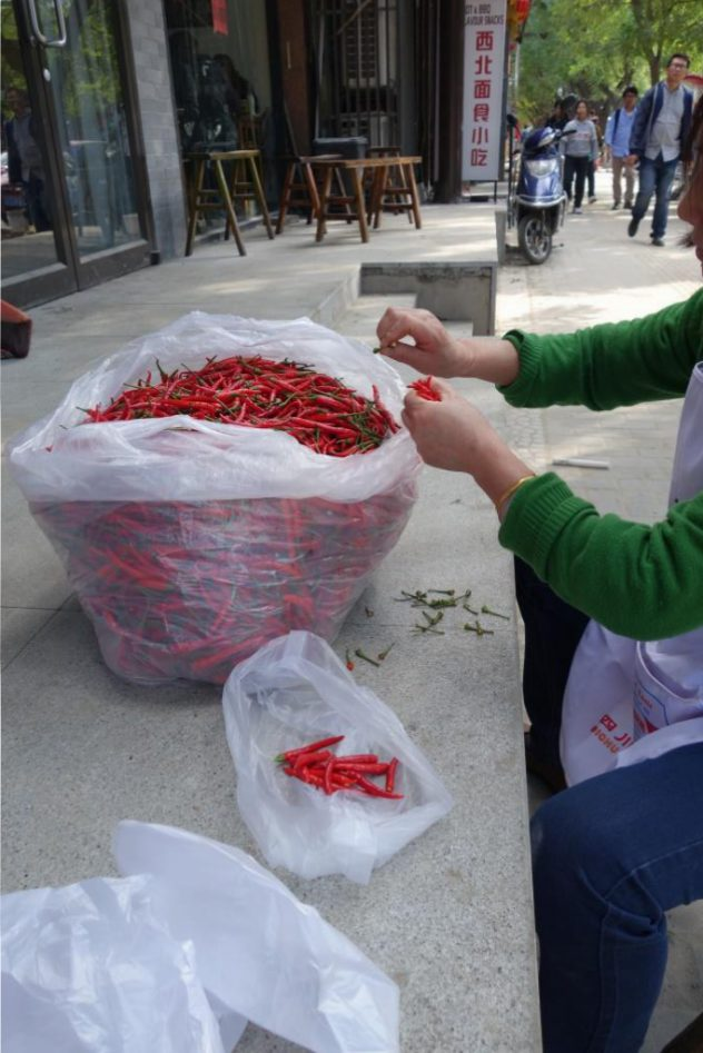 Chilli-Prepping, Outdoors