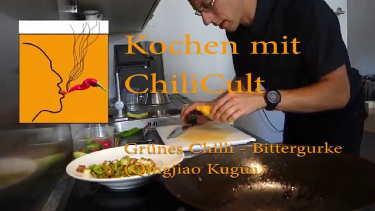Cooking with ChiliCult: Green Chile Bitter Melon (Qingjiao Chao Kugua)