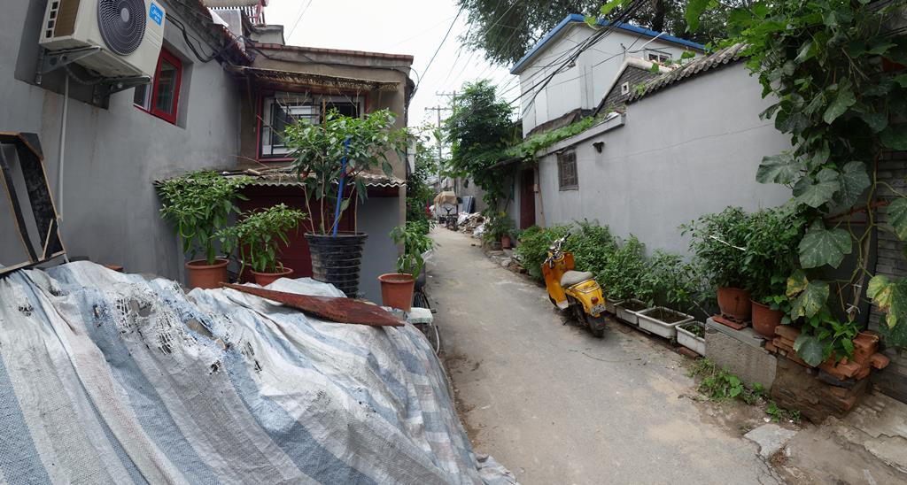 Beijing Hutong-Gässchen-Garten