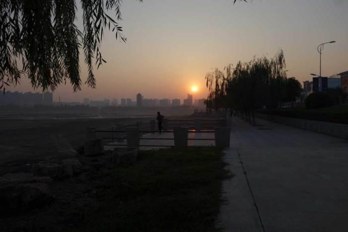 Sonnenaufgang über Zhecheng, Henan