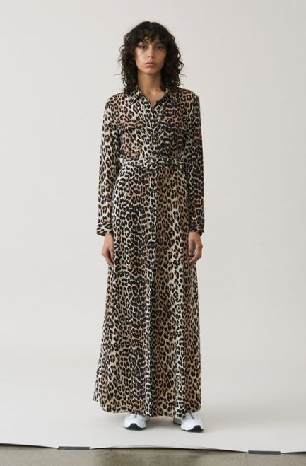 Ganni long silk dress £430