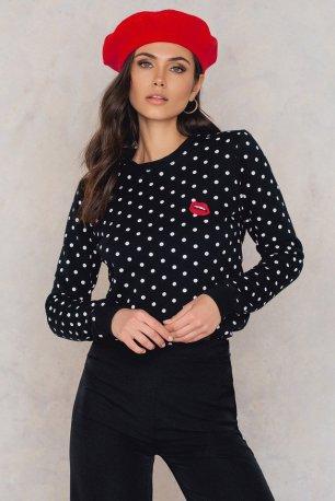 NA-KD Dots & Lips Top £52.95