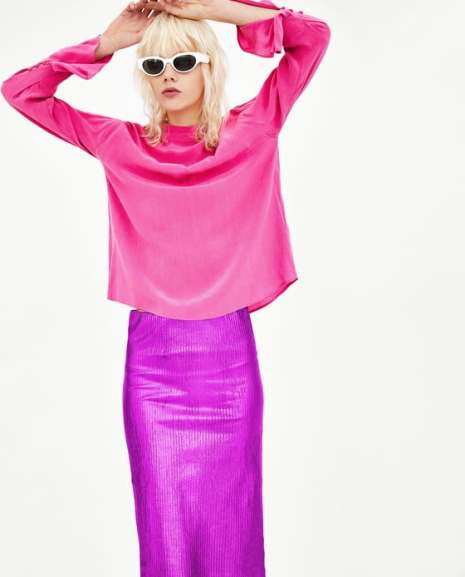 ZARA Colour Clash Pinks and Purples