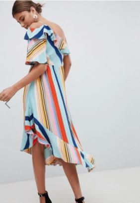 Boohoo Bold Stripe Midi Dress £25.00