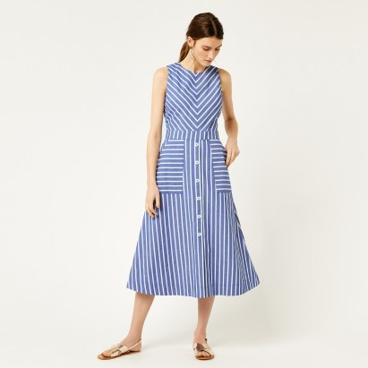 CHEVRON STRIPE MIDI DRESS £49.00