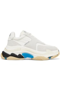 Balenciaga Triple S leather and suede sneakers £615