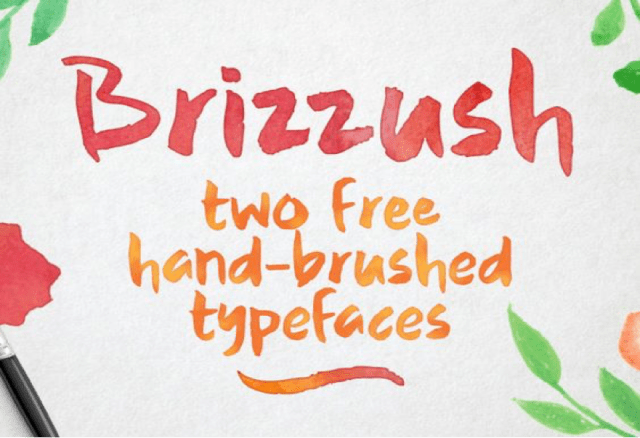 Brizzush Font for postcards