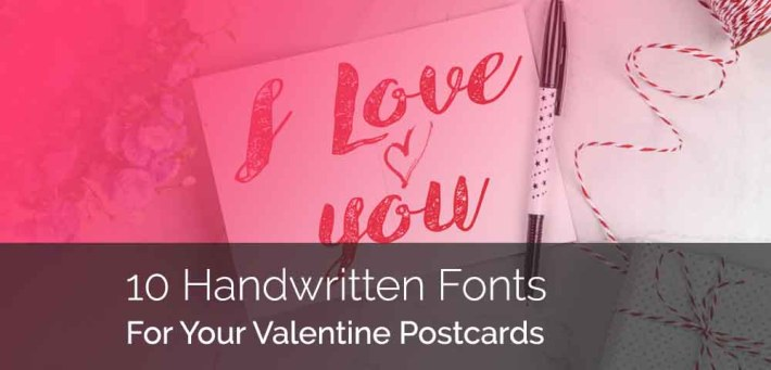 10 Handwritten Fonts For Your Valentine Postcards
